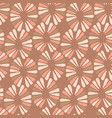 seamless coffee pattern with retro flowers vector image