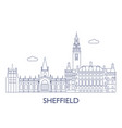 sheffield vector image vector image