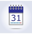 Simple calendar icon vector image vector image