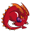Sleeping Dragon vector image