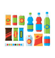 snack food cookies crackers carbonated drinks vector image vector image