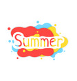 summer colored abstract logo with shadow vector image vector image