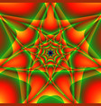 symmetric green orange pattern vector image vector image