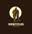 the statue of hercules vector image vector image