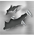 torn ripped steel template sides vector image vector image