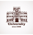 University sketch building vector image vector image
