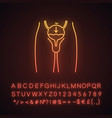 urinary incontinence neon light icon vector image vector image