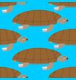 water turtle seamless pattern marine animal vector image vector image