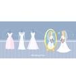 Wedding dress design flat style vector image