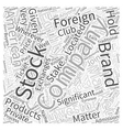 What is the Stock Market Word Cloud Concept vector image vector image