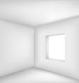 Empty white room vector image