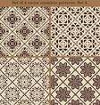 Set of 4 vintage seamless patternsSet 4 vector image