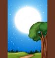 a night landscape scene vector image vector image