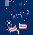 american independence day celebrations greeting vector image vector image