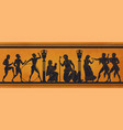 ancient greece mythology antic history black vector image