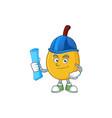 architect fresh loquat cute cartoon character vector image vector image