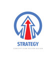 arrow - business logo template design strategy vector image vector image