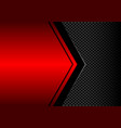 black arrow on red metallic blank circle mesh vector image vector image