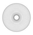 black ring of circles tube effect stylish vector image vector image