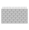 brick wall fence icon monochrome vector image vector image
