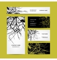 Business cards design bare tree background vector image vector image