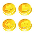 cartoon money coins icon set with symbols vector image