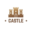 Castle logo design Knights fortress with vector image vector image