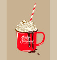 christmas warming beverage quote modern calligrap vector image vector image