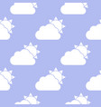 cloud and sun seamless pattern vector image vector image