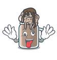 crazy milkshake mascot cartoon style vector image vector image