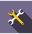 Crossed wrenches icon flat style vector image vector image