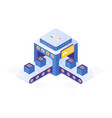 cryptocurrency market place isometric vector image vector image