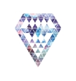 Diamond space design Abstract watercolor ornament vector image