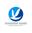 dove bird business logo design vector image vector image