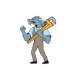 Dragon Plumber Monkey Wrench Fist Pump Isolated vector image