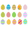 easter easter eggseaster eggs collection vector image vector image