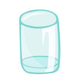 empty glass isolated vector image