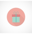flat gift icon vector image vector image