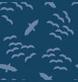 flock birds in sky seamless pattern vector image