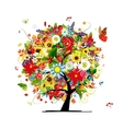 Four seasons concept Art tree for your design vector image