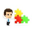 funny cartoon office worker vector image vector image