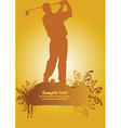 golf poster2 vector image