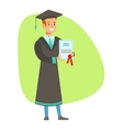 Graduate Student Holding Insurance Contract vector image
