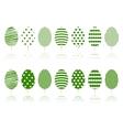 Green decoration garden trees symbols set vector image vector image