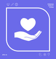 hand holding heart symbol graphic elements for vector image