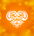 Heart on orange background vector image vector image