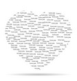heart with the words vector image vector image