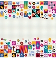 hearts stars and flowers abstract art background vector image vector image