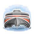 high-speed ferry catamaran vector image vector image