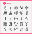 medical line icon pack for designers and vector image vector image